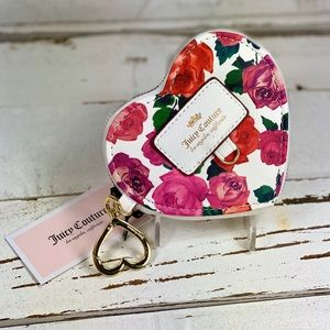 Juicy Couture Heart & Roses Coin Purse